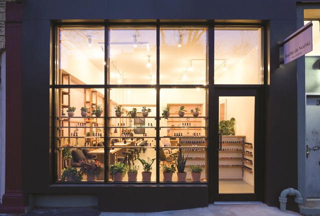 <p>The sleek exterior blends in with the neighborhood's modern high-rises and beautiful brownstones.</p>