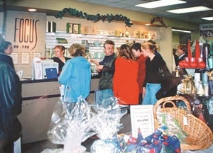 <p>Focus on You customers are standing in line to take advantage of retail specials and a 10% discount on gift certificates.</p>