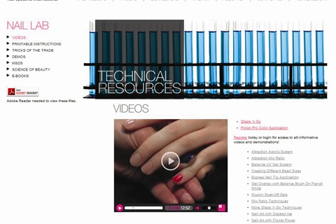 "<p><a href=""http://www.nsinails.com/nail-lab/videos.html"">NSI's Video Nail Lab</a></p>"