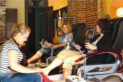 Salons like Scratch Pedicure Parlour that offer side-by-side pedicures become a go-to destination for friends who are looking for a place to catch up and relax.