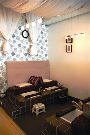<p>The salon's popular pedicure basins were built in their entirety by owner Thao Nguyen and her sister Ha, using training they obtained by attending classes at a home improvement retailer.</p>
