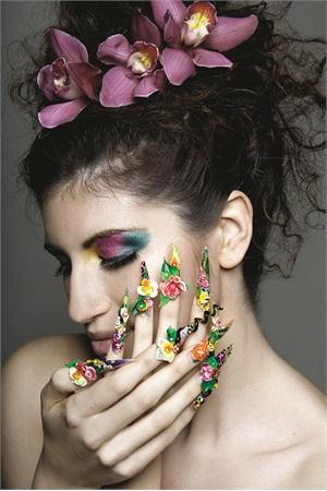 Creative Director:David Soukhaseum; Photographer:Charity Cardiasmenos; Master Nail Artist:Sindy Mark; Hairstylist:Kao Vey Saephanh of Salon KaoVey; Makeup Artist:Hang Le; Model: Meredith Micheaux-Harris