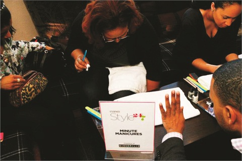<p>Makong manicured many hands for Essence Magazine's 24/7 campaign for Ginger & Liz Polish line in New York City.</p>