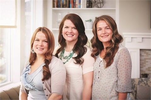 Left to right are Jamberry's founders, sisters Keri Evans, Christy Hepworth, and Lyndsey Ekstrom.