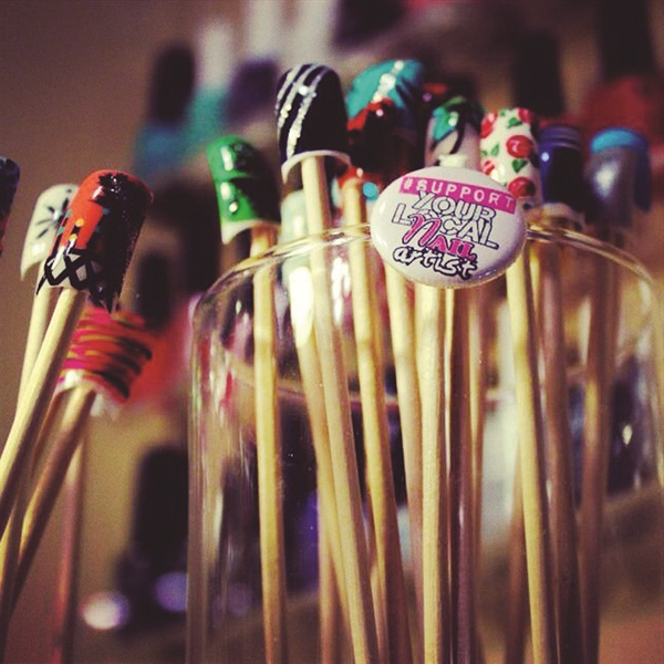 Show us yourclever nail art displays business nails magazine clever nail art displays prinsesfo Image collections