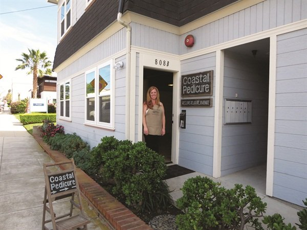 Tami Guerrero's Coastal Pedicure is nestled among charming Victorian houses and retail shops on a sunny street in Ventura, Calif.