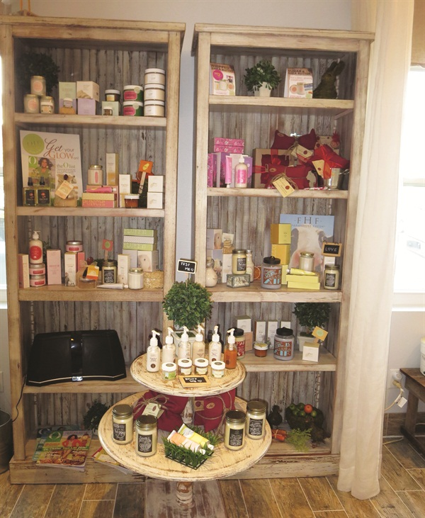 The salon carries a variety of Farmhouse Fresh products. I took home the Coconut Beach Whipped Shea Butter Body Polish.