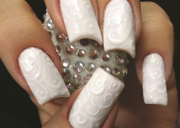 Gel-On-Gel-Polish Nail Art