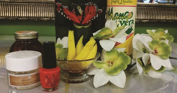 <p>Sweet Treat Mango Spa Manicure  Tropical Nail Salon, Covington, Ga.</p>