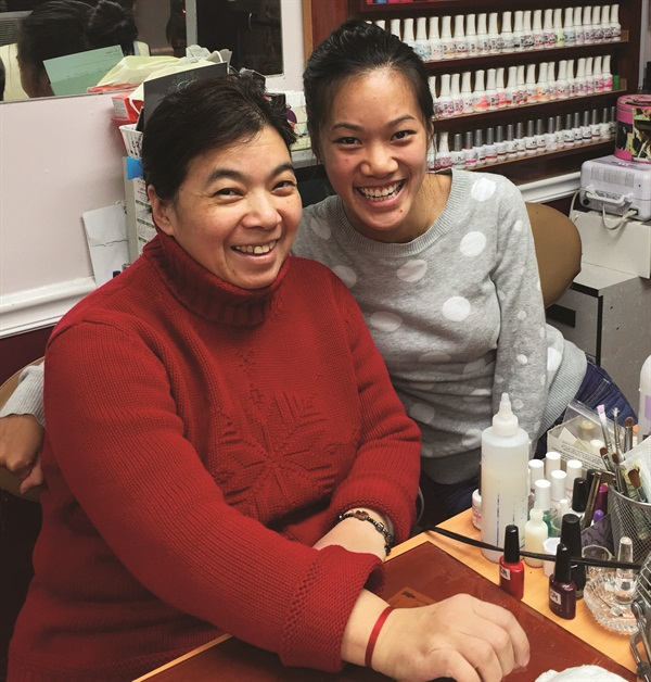 <p>Lien and her daughter Sarah have been working at Bromfield Nails together for more than six years.</p>