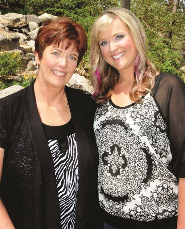 <p>Kathy Dent and Danielle Lindberg co-own Salon Glow and have been successful business partners for the last nine years.</p>