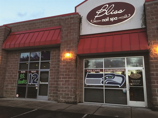Bliss shares the same plaza space with Jiffy Lube in a residential area of Everett, Wash., which makes the high-end spa a true hidden gem.