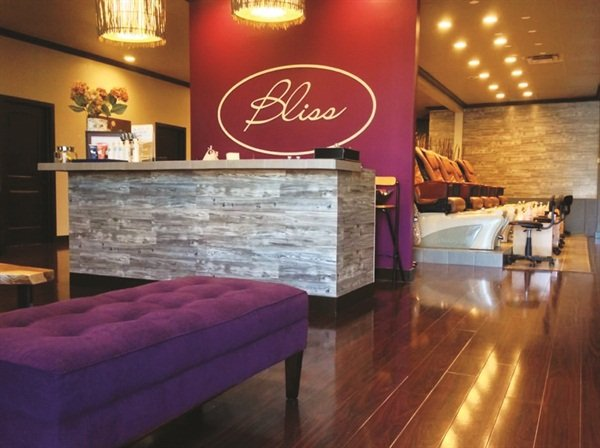 Bliss nail spa brings relaxation back into the salon for Salon pictures for wall