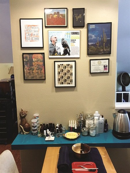 <p>Meghann Rosales named her individually owned business Nails Y'all as homage to Dolly Parton and Loretta Lynn.</p>