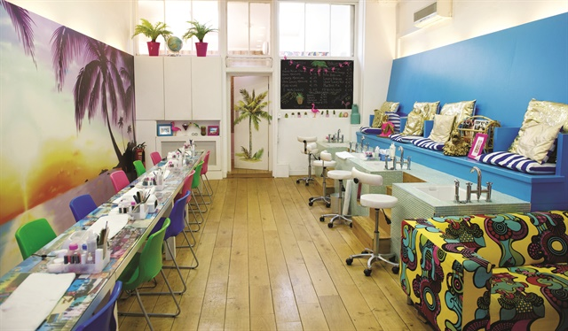 The goal with Tropical Popical was to make a nail bar with a style that's not typical in Ireland, which is why the tropical theme is so loud.
