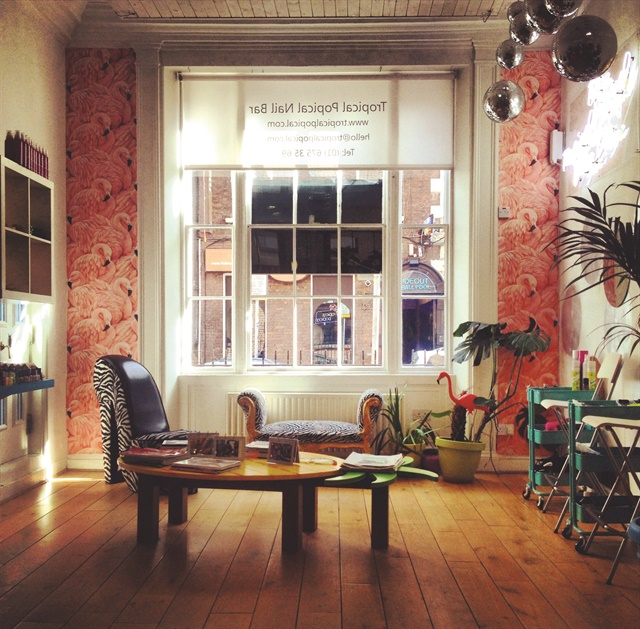 <p>Tropical Popical likes its staff and employees to enjoy themselves. The nail salon's decor and vibe encourages a fun attitude. </p>