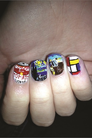<p>These nails by Los Angeles- based nail tech Chelsea King pay homage to some classic works of art.</p>