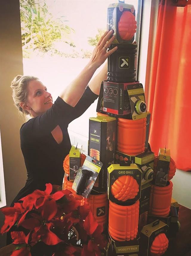 "<p>Kate Newport, the spa concierge at SLOCO Massage & Wellness Spa in San Luis Obispo, Calif., built this ""self-care tree.""</p>"