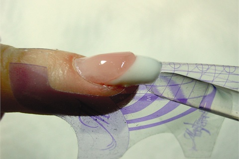 Tip Shown Ly As Above And Then Have The Client Hold Her Hand Upside Down Gel Will Smooth Out Naturally Gravitate To Apex