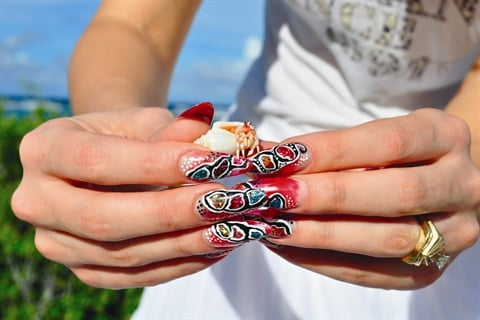 Acrylic Coral Reef Nail Art - Technique - NAILS Magazine