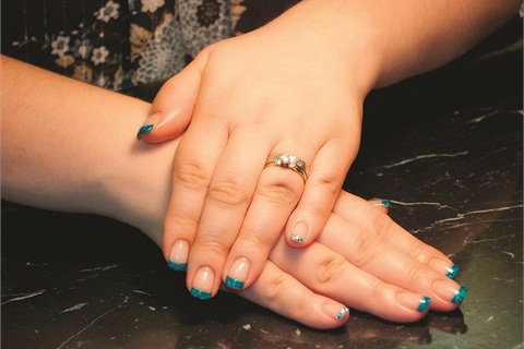 <p>She says that her clientele varies on nail preferences, with some older clients preferring glitter and color, and some younger girls opting for traditional pink-and-whites.</p>