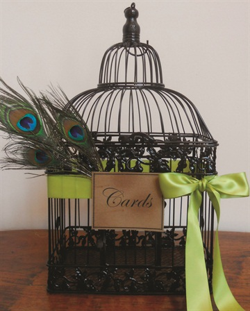 "<p>The perfect place for guests to leave cards. <em>Photo courtesy </em><br /><em><a href=""http://etsy.com/shop/YesMoreFunk"">etsy.com/shop/YesMoreFunk</a>. </em></p>"