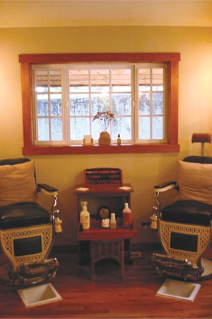 <p>The pedi chairs at Strawberry Mountain are unique, fitting for a location that offers clients a one-of-a-kind salon experience.</p>