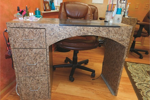 A Matching Table With The Drawers On Lefthand Side Was Custom Ordered For Finished Earance S Left Handed Tech Lisa Rearick