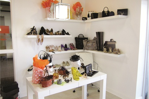 <p>When Castillo removed a nail desk, she used the space as a consignment corner for clients to sell handbags and shoes.</p>