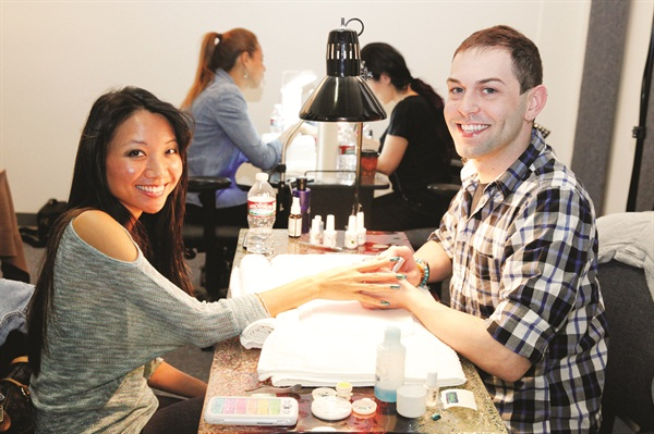 <p>Buddy Sims, a nail tech at Bella Dea Day Spa in Omaha, Neb., was flown out to California to compete in 2013-2014 NAILS Next Top Nail Artist's final competition. Part of his prize package for placing in the top three was getting to do a NAILS cover.</p>