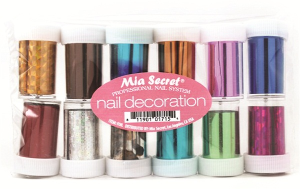 Mia Secret Released Its Newest Item Nail Decoration Foil Paper Which Is Available In 24 Diffe Colors Patterns And Textures