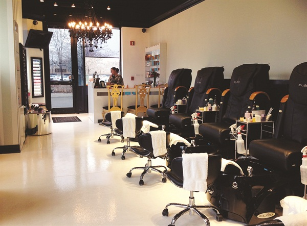 Most of the original location's hair clients have become regular nail clients as well.