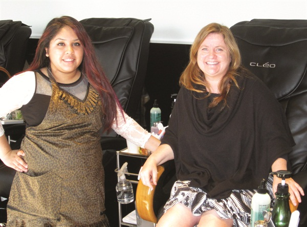 Aguilar gave me a great pedicure, finished off with OPI GelColor in I Sao Paulo Over There from the Brazil Collection.