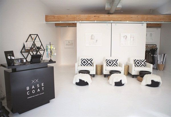 <p>The neutral decor at Base Coat Nail Salon is inviting to all customers.</p>