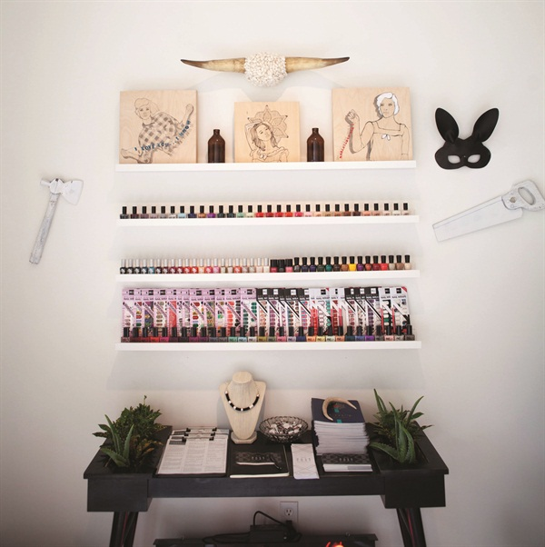 "<p>The salon carries only ""five-free"" polishes from female-owned companies.  </p>"