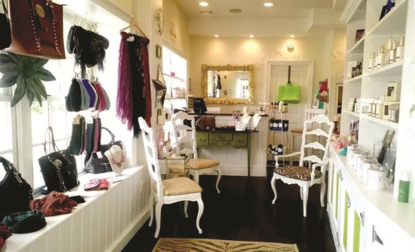 <p>Joanna usually takes charge of the displays in the boutique area.</p>