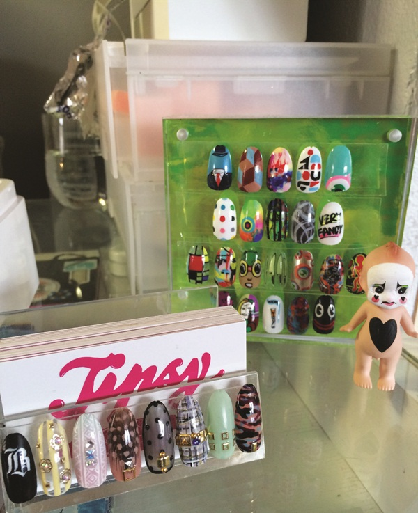 <p>Crowe constantly pins art she wants to translate onto nails via the Pinterest app.</p>