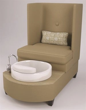 Pelafas' best-selling Stella Pedicure Chair is on display at Everything Nailz.