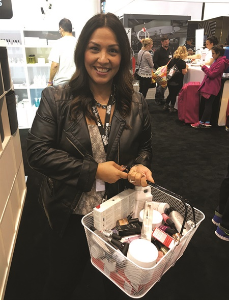 <p>Diane Diaz' love of Shellac earned her a $750 shopping spree at CND's show booth.</p>