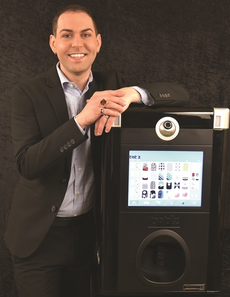 "<p>Having two Tat'z nail art printers in the salon where he works increases service revenue and is a strong ­marketing tool, says Buddy Sims. ""The sleek standout look of the ­machine screams for attention!""</p>"