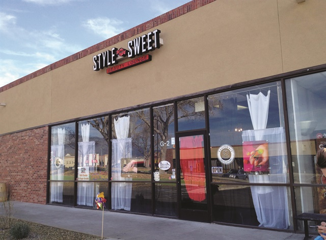 <p>The 1460-sq.-ft. salon is located in a business and shopping district in Albuquerque and offers hair, nail, waxing, eyelash, and makeup services. </p>