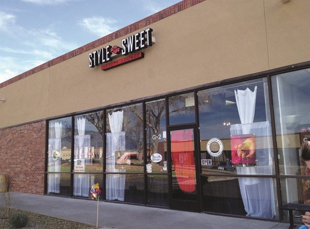 The 1460-sq.-ft. salon is located in a business and shopping district in Albuquerque and offers hair, nail, waxing, eyelash, and makeup services.