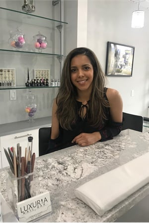 Salon owner Leonobi Galvez is a nail artist and university-accredited chemist.
