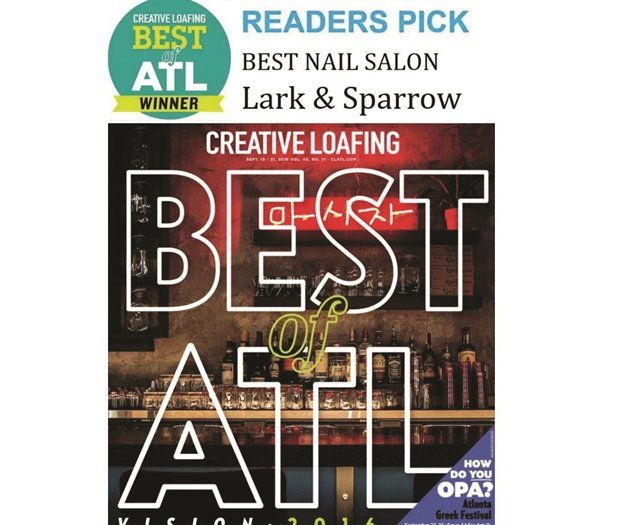 <p>Lark and Sparrow Salon was voted best salon by the readers of <em>Creative Loafing.</em></p>
