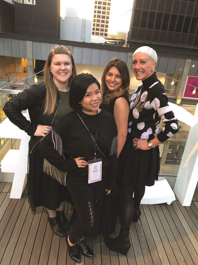 <p>Waite, Winnie Huang, me, CND style director and co-founder Jan Arnold.</p>