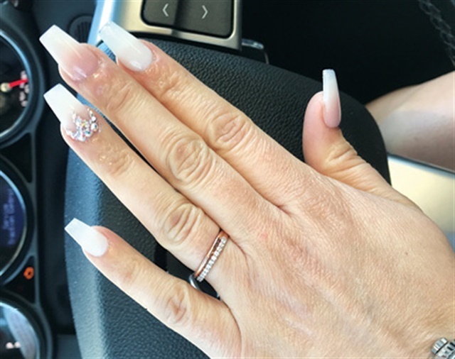 Celilia Gallegos, Turlock, Calif. Married March 16, 2019. Nails by coworker Natalie Posados. @nailedbynatalie