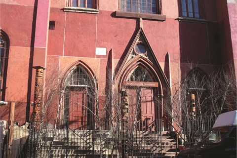 <p>The show was held at The Angel Orensanz Foundation for the Arts, formerly a church.</p>