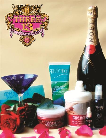 Champagne & Rose Luxury Manicure photo courtesy of Three-13 Salon, Spa & Boutique, Marietta, Ga.