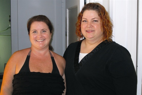 <p>The temperature was in the 90s the day I visited Michele McLendon (right) at Bloomingnails, and the salon was a welcome cool-down after walking around at an outdoor festival earlier in the day.</p>