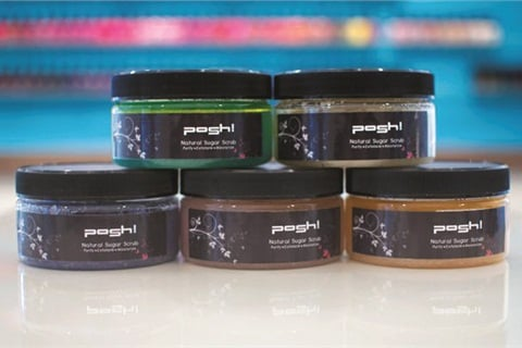 <p>Posh! sugar scrubs are made in-house from organic ingredients. </p>